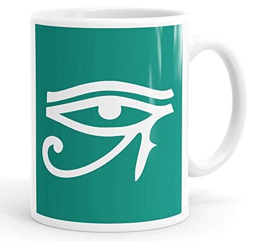 N\A Taza Egipcia del Ojo de Horus