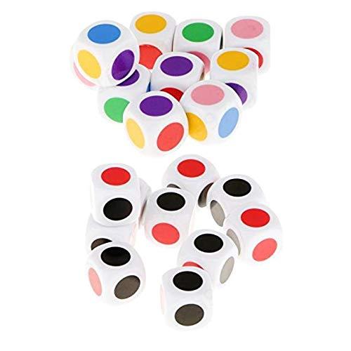 DULALA Lernspielzeug 10 Stück Würfel zum Spielen mit 6 Farben für Brettspiele Kindertischspiele