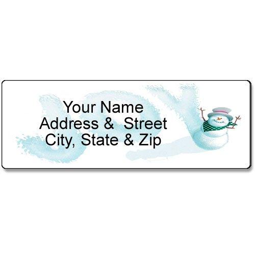 Custome Holiday Address Label - Joy Snowman Address Label - Christmas Customized Return Address Label - 90 Labels
