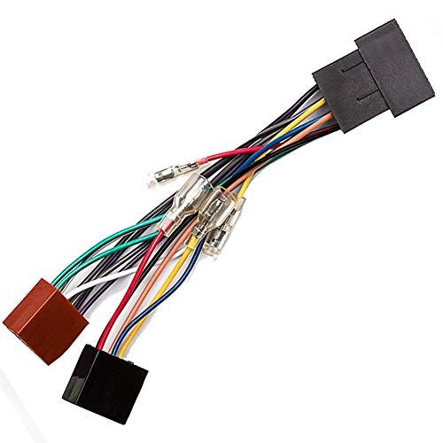 Autoradio Adapter drehbar Verlängerung Kabel ISO Stecker auf ISO-Stecker variabel Zünd/Dauerspannung