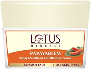 Lotus Herbals Papayablem Papaya-n-Saffron Anti-Blemish Cream, 50g