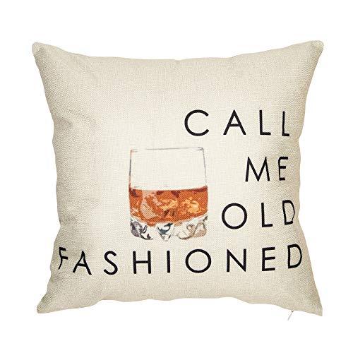 Softxpp Call Me - Funda de cojín Decorativa para sofá o sofá (45 x 45 cm), diseño con Texto en inglés Call Me, Color Rojo