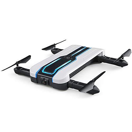 RC Drone con Telecamera HD 720P, WiFi Live Video FPV Mini Pieghevole Quadricottero Videocamera,GPS One Key Start-Landing, Altitudine Attesa, Flip 3D RC Quadricottero, Buono per Principianti