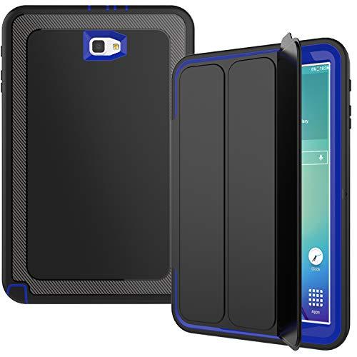 Aidashine Funda para Galaxy Tab A 10.1 SM-T580 T585 T587 2016 Liberado, Cubierta Delgada Elegante De Soporte En Folio del Caso para La Lengüeta Un 10.1 Pulgadas Tablet,Azul