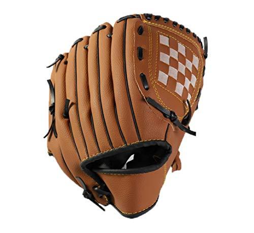 CZ-XING Outdoor-Baseball-Handschuh Sport Schlaghandschuhe Baseball-Handschuh Erwachsene/Teenager Wild Baseball Handschuhe Softball Handschuhe Mehrfarbig (Braun, L)