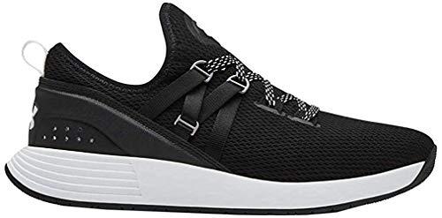 Under Armour Women's Breathe Trainer Sneaker, Black (001)/White, 7.5