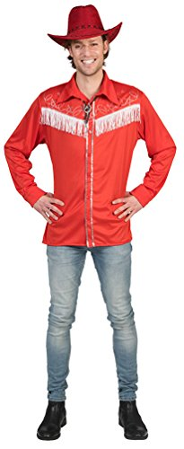 Karneval-Klamotten Cowboy Hemd Herren Cowboy Kostüm Jeans rot blau Western-Hemd Rodeo Herren-Kostüm Karneval