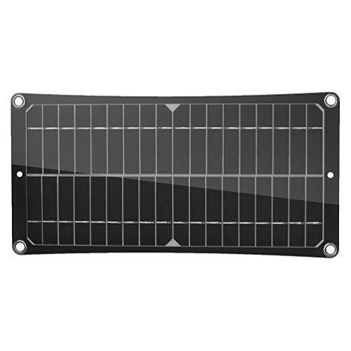 BESPORTBLE Kit de Panel Solar 50W 18V Monocristalino Portátil Mono Solar Panel Starter Kit for Outdoor Trailer Camper Rv Boat Power Generator