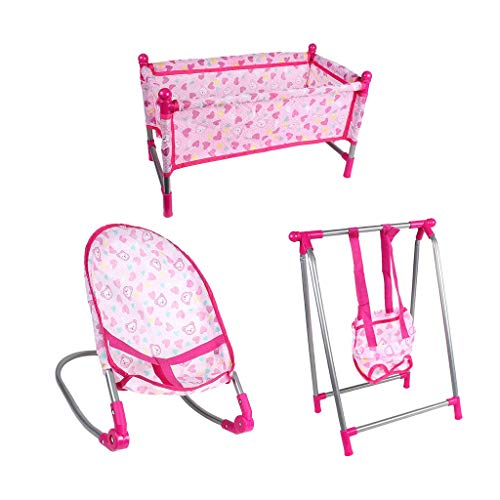 yunyu dolls house furniture, Simulation Baby Bed Rocking Chair Swing For Dollhouse Furniture Playset Toy