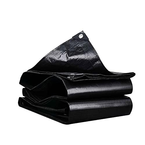 YANFEI Sonnensegel Tuch Segeltuch Schwarz Schattentuch Sonnenschutz Wärmeisolierung Outdoor Wasserdicht Regentuch Verdickte Plane Beschattung Kunststoffplane