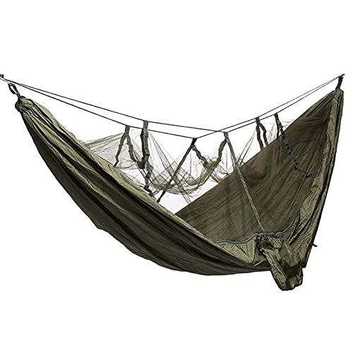 XHLLX Playa Swing Camping Hammock Ultralight Single Hamock con New Nylon Parachute para Outdoors Mochileros Viajes Playa Aventura,Army Green,One Size