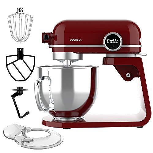 Cecotec Batidora Amasadora Twist&Fusion 4500 Luxury Red. 800 W, Cuerpo de Aluminio...