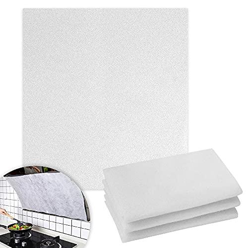Universeller Filter für Dunstabzugshauben, 3 Stück Dunstabzugshaube Filter zuschneidbar, Dunstabzug Filter Dunstfilter für Diverse Modelle, 46 x 56 cm