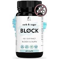 Keto Carb & Sugar BLOCK 4000mg (60 DIAS) - Potente Bloqueador de Hidratos & Azucar + Quemagrasas potente para adelgazar y rapido por 18 horas, Fat burner compatible con todas las dietas +MEDICOS