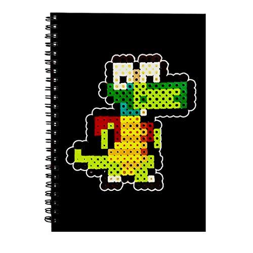 Croc 8bit Pixel Character Bead Spiral Notebook