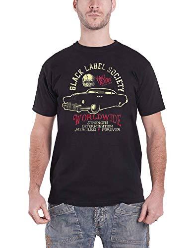 Black Label Society Hell Riding Hot Rod SDMF Nue offiziell Herren Schwarz T Shirt