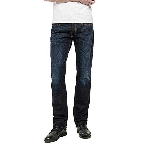 Replay Herren Straight Leg Jeanshose NEWBILL, Blau (Blue Denim 007), W38/L32