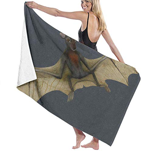 Toalla de baño Night Flying Bat Playa SPA Ducha Baño Envoltura Luz Suave Cómodo 80X130 Cm