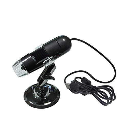 ZZWBOX Microscopio USB Lupa 25-600x HD 1.3 Megapixel Microscopio Electrónico de Fotogrametría Electrónica - para Skin Fabric Hospital Research,Silvergrey