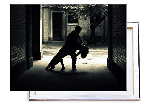 Unified Distribution Tanzendes Paar - 80x60 cm - Bilder & Kunstdrucke fertig auf Leinwand aufgespannt und in erstklassiger Druckqualität