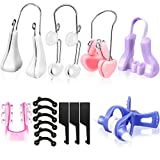 7 Pieces Nose Up Lifting Shaper Clips Set Nose Bridge Slimming Tool Silicone Nose Lifter Beauty Clip Tools for Wide Nose, Low Nose, Curved Nose, Big Nose