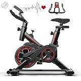 Cyclette, Bici da Spinning per Ciclismo Indoor con Volano, Display LCD, Sensori di Frequenza Cardiaca, Resistenza Regolabile per L'allenamento A Casa Attrezzature per L'allenamento Aerobico