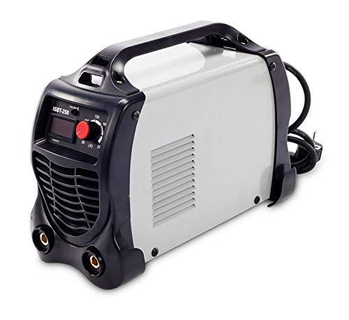 SOLDADOR INVERTER LCD IGBT N250 A ELECTRODOS HIPPOKRAFT Incluye 2 Electrodos, Careta, Cepillo - Piqueta, Pinza Negativo, Pinza Porta Electrodo