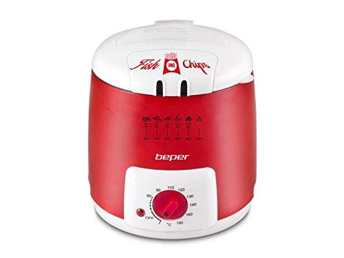 Beper 90.496N Friggitrice Elettrica Beper 1 Litro Rosso