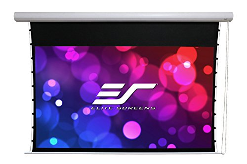 Elite Screens Manual Tab-Tension, 100-INCH Diag. 16:9, Bead Chain Clutch Mechanism Wall/Ceiling Projector/Projection Screen 4K / 8K Ultra 3D HD Ready, MT100XWH
