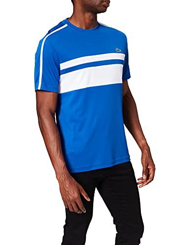Lacoste TH9682 Camiseta, Lazuli/Blanc-Blanc, XL para Hombre