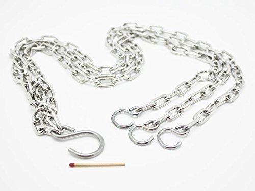 Schwerlastkette - Dreistrangkette - Blumenampel Ersatzkette - 47 cm & 77 cm - Hanna\'s Laden (77 cm)