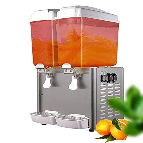 CLING Dispensador de Jugo Comercial Dispensador de Bebidas frías de Doble Temperatura Caliente y frío Multifuncional de Acero Inoxidable con Controlador de termostato para Restaurante y Fiesta
