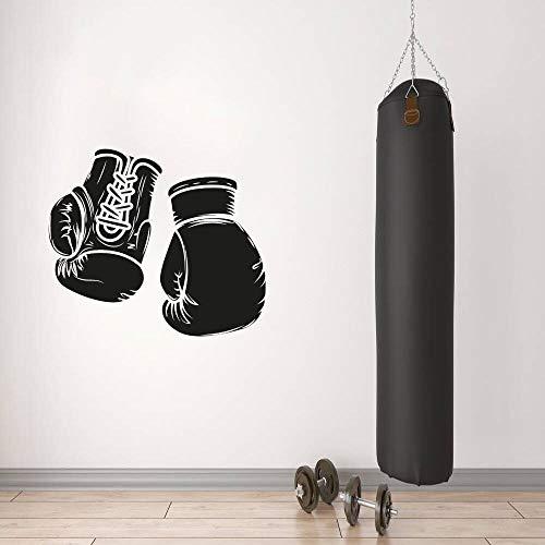 Adhesivos Pared Pegatinas de Pared Guantes de Boxeo Calientes Diseño de Pared de Vinilo Art Sticker Boxing Gym Wall Art Decoration 86x110cm