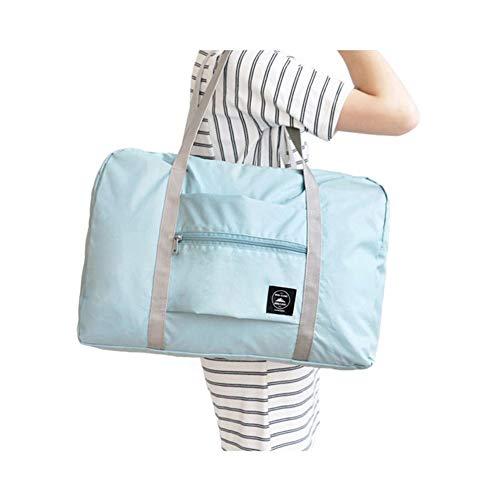 laoonl Bolsa de fin de semana, deportiva, bolsa de viaje para mujer, bolsa de viaje plegable, bolsa de viaje expandible de lona para hombres, bolsa de transporte impermeable plegable