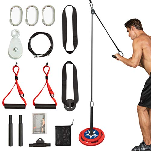 Clothink LAT Pull Down Machine Attachments, Cable Machine Pulley Attachments Workout Equipment for Home Gym