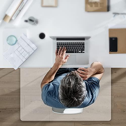 THE BIG things® Bodenschutzmatte transparent - Clear Stuhlmatte für Hartböden - 100x70cm - matt - Bürostuhl Unterlage - Kratzfest Stuhlmatten