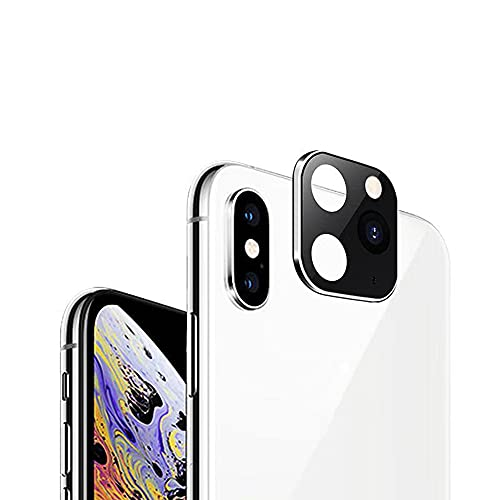 Romacci Substituição de lentes de câmera de metal de alumínio de luxo, substituível por segundos para i-Phone 11 Protetor para i-Phone X XS MAX Capa protetora de câmera dourada