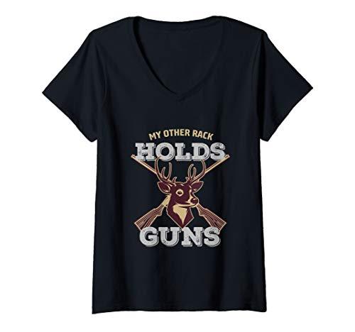 Womens My Other Rack Holds Guns Buck Deer Hunting Season...
