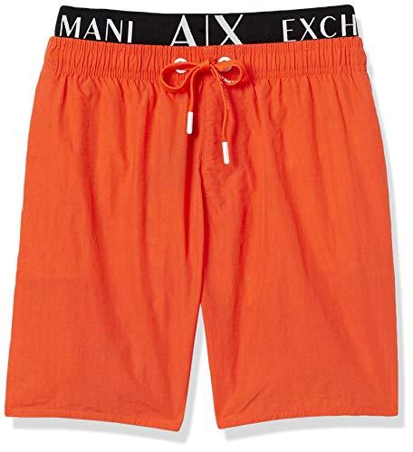 Armani Exchange Herren Allover & Elastic Badehose, Orange (Scarlet IBIS - Scarlet IBIS 14162), XX-Large (Herstellergröße:XXL)