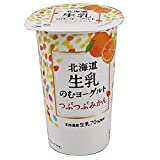 【冷蔵】北海道乳業 北海道 生乳のむヨーグルト つぶつぶみかん 175gX10本