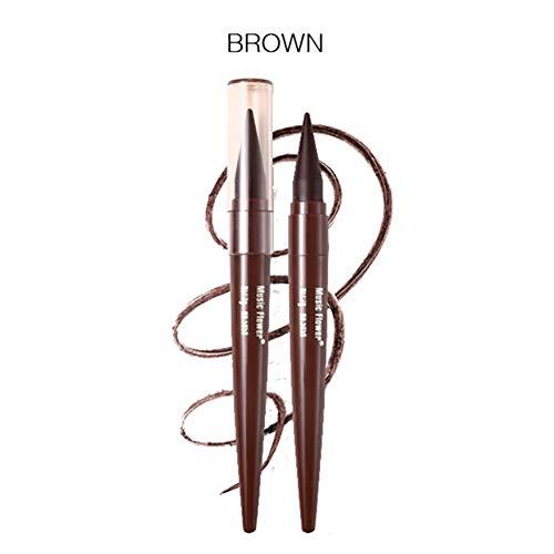 Hilai 1pc Eyeliner Waterproof,Liquid Eyeliner, Yeux Liner, Maquillage Imperméable Cosmétiques Eye Liner longue tenue Flash Eyeliner Eye-Liner Crayon Pigment Maquillage Imperméable(Marron)