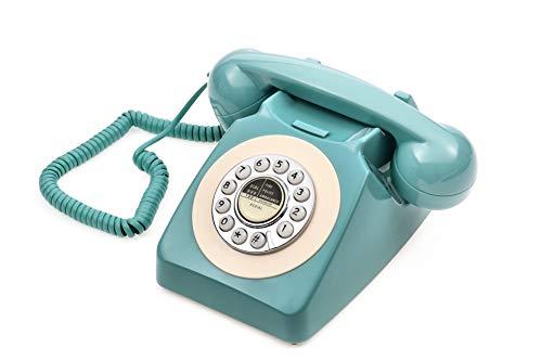 Retro Telephone, CALLANY 80's Classic Telephone/Landline Phone/Wired Telephone for Home/Hotel, Fresh Blue