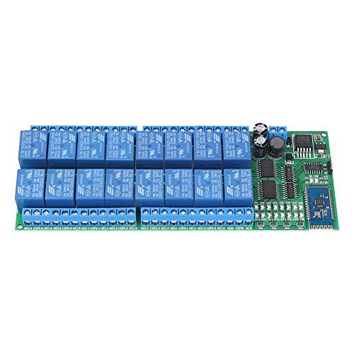 Interruptor de control remoto inalámbrico DC 12V 16 Channel Bluetooth Relay Board para teléfono Android con funciones Bluetooth.