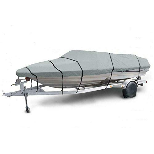Best Deals! thebestshop99 Waterproof Heavy Duty Oxford Fabric V-Hull Boat Cover Beam Protection 600D...