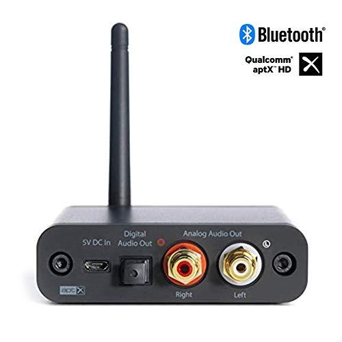 Audioengine B1 Bluetooth 5.0 Receptor de Música con 24Bit DAC   Receptor de Codec HD aptX con Salidas Coaxiales Ópticas y RCA S / PDIF   Rango Extendido de 30m