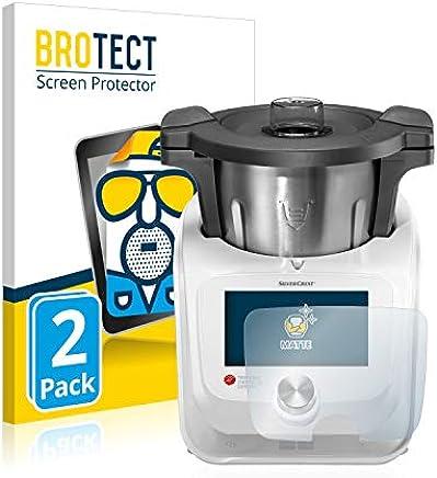 BROTECT Protector Pantalla Mate para Silvercrest Monsieur Cuisine Connect [2 Unidades] Anti-Reflejos, Anti-Huella