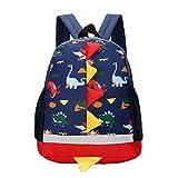 Kids Dinosaur Backpack Kindergarten School Bags Children Mini Backpack Cartoon Rucksack for Toddler Boys Girls(Kids Backpack for Navy Blue)