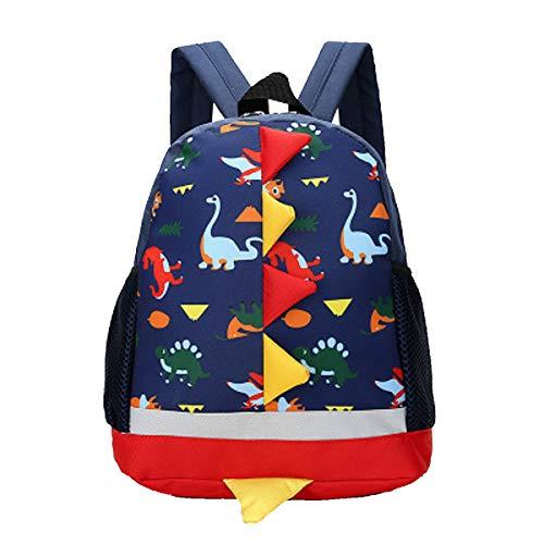Kinderrucksäcke Kindertasche Kindergarten Rucksack Cartoon Dinosaurier Backpack für Mädchen Jungen(Dunkelblau Kinderrucksäcke)