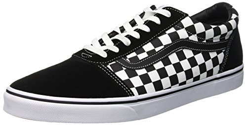 Vans Ward Canvas, Zapatillas para Hombre, Negro (Checker/Black/True White Pvj), 39 EU