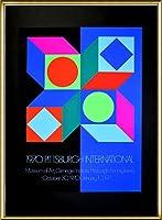 ポスター ヴィクトル ヴァザルリ Pitsburg International 1970 額装品 アルミ製ハイグレードフレーム(ゴールド)